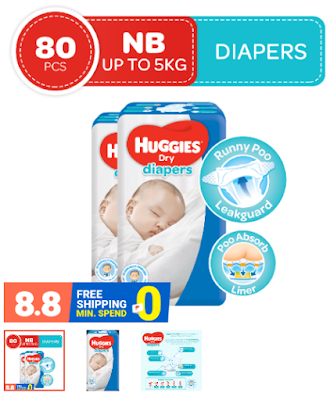 Huggies Dry Diapers Newborn