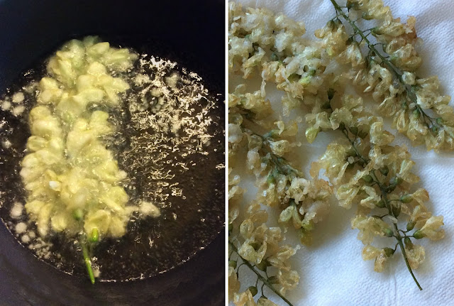 frittelle di fiori di robinia