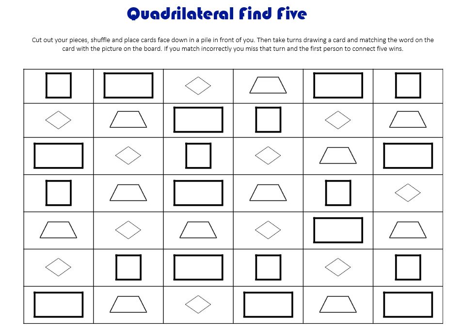 The Yellin Center Blog: Quadrilateral Find Five: A Geometry Game