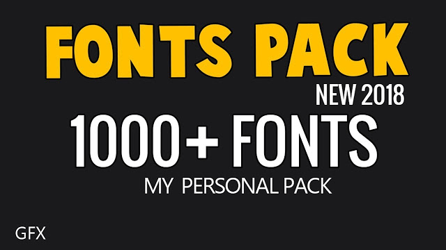 Download 1000 Free Fonts Pack By M Sami | PS Stocks