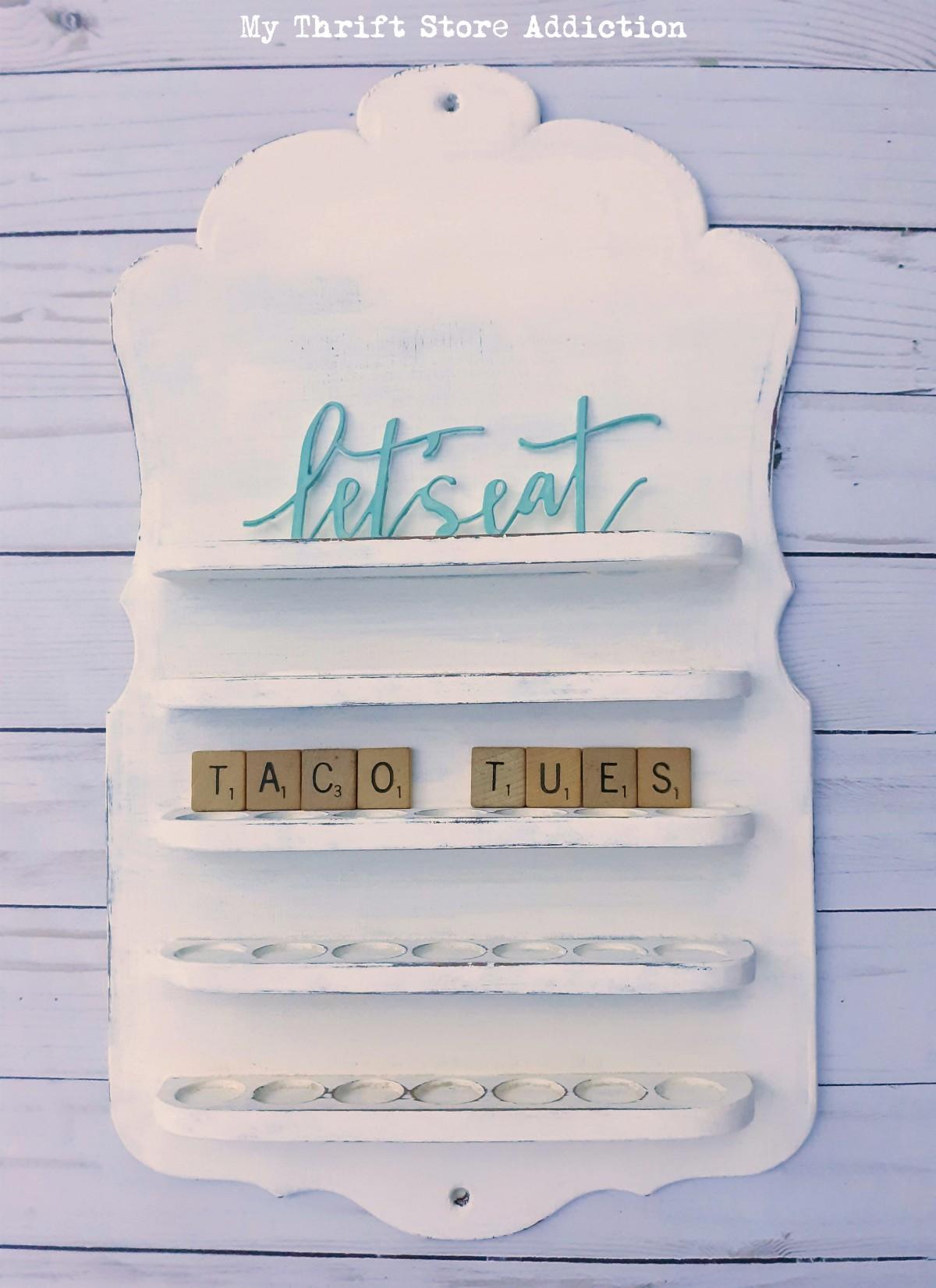 repurposed vintage menu board