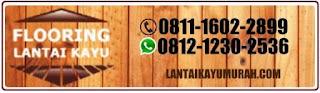 Lantai kayu murah merbau logo