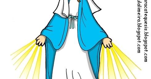 Virgen Milagrosa Colorear Me Gusta La Clase De Religin
