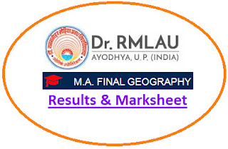 Avadh University MA Geography Final Result 2021