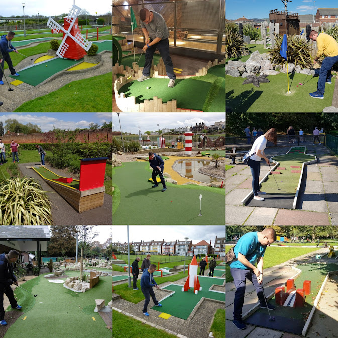 Minigolf courses we've played on Miniature Golf Days