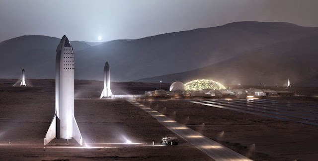 √ Spacex Presented Its Vision For The Futurity Martian Colony