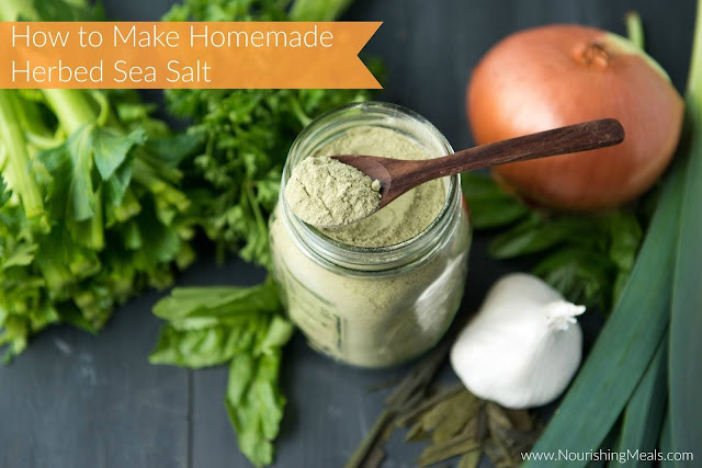 DIY homemade herbed sea salt Nourishing meals