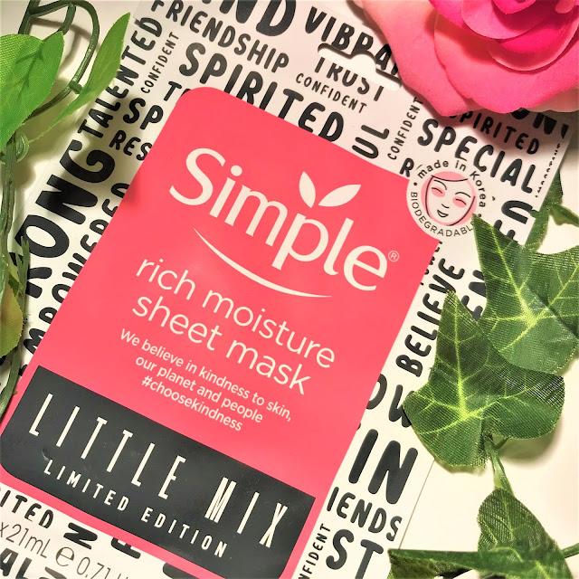 Simple x Little Mix Rich Moisture Sheet Mask