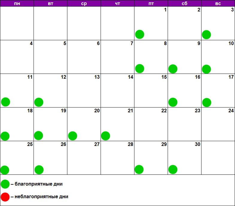 Лунный календарь наращивания июнь 2018
