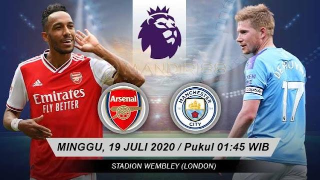Prediksi Arsenal Vs Manchester City, Minggu 19 Juli 2020 Pukul 01.45 WIB @ RCTI