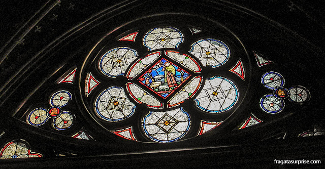 Vitral da Sainte Chapelle, Paris