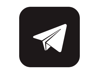 Telegram Black And White Free Vector Logo CDR, Ai, EPS, PNG