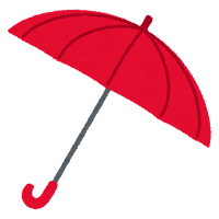 傘のイラスト(赤)