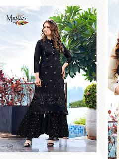 Manas Lucknowi Kurtis With palazzo Designer Collection