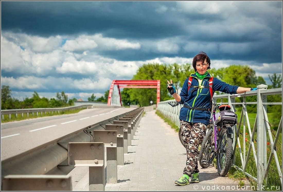 Велодорожка к новому мосту через Преголю