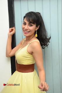 Actress Manisha Kelkar Latest Picture Gallery in Yellow Short Dress  0021.JPG