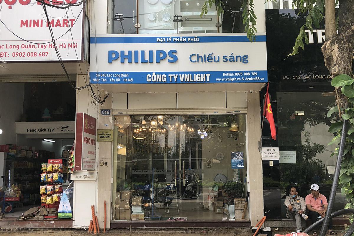 Cửa hàng đèn chiếu sáng VNLIGHT ở 646 Lạc Long Quân