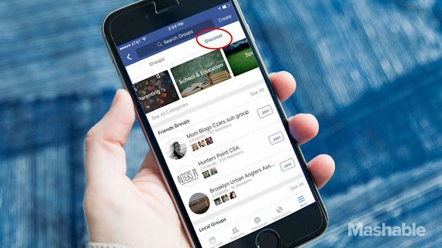 الفيس بوك يختبر ميزة جديدة تقوم بعرض المجموعات بحسب الاهتمامات