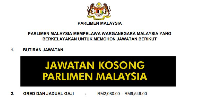 Jawatan Kosong di Parlimen Malaysia