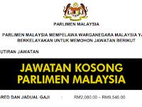 Jawatan Kosong di Parlimen Malaysia - Terbuka Lelaki & Wanita