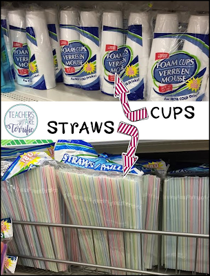 Classroom Supplies- It's all about those straws! Great find at the dollar store and so useful for STEM class!