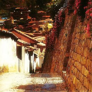 As Ruas Estreitas de San Blas, em Cusco