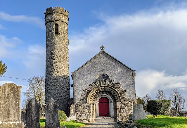 Castedermot Round Tower and St. James Church in South Kildare