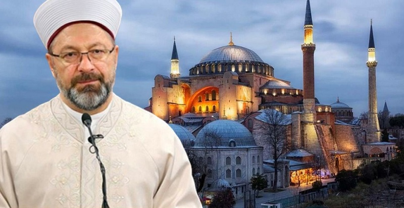 """رئيس الشؤون الدينية التركي: حان وقت """"القيام"""" في آيا صوفيا"""
