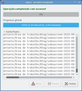Grsync sua opção de Backup
