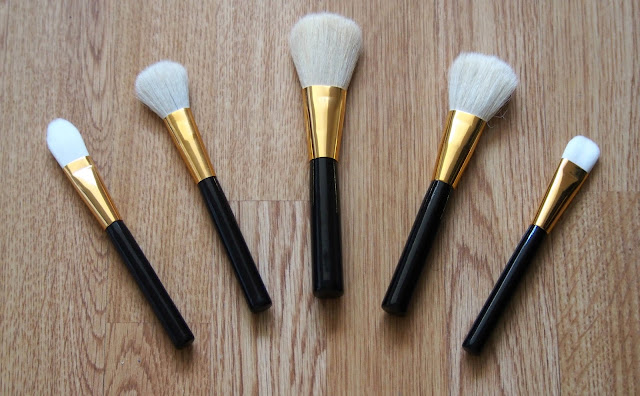 Selection of makeup brushes