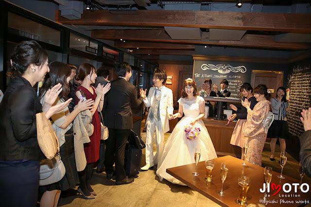 東京銀座での結婚式撮影