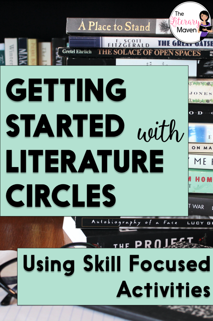 Literature circles are about reading and discussing, but also an opportunity to review and introduce skills through focused writing and activities.