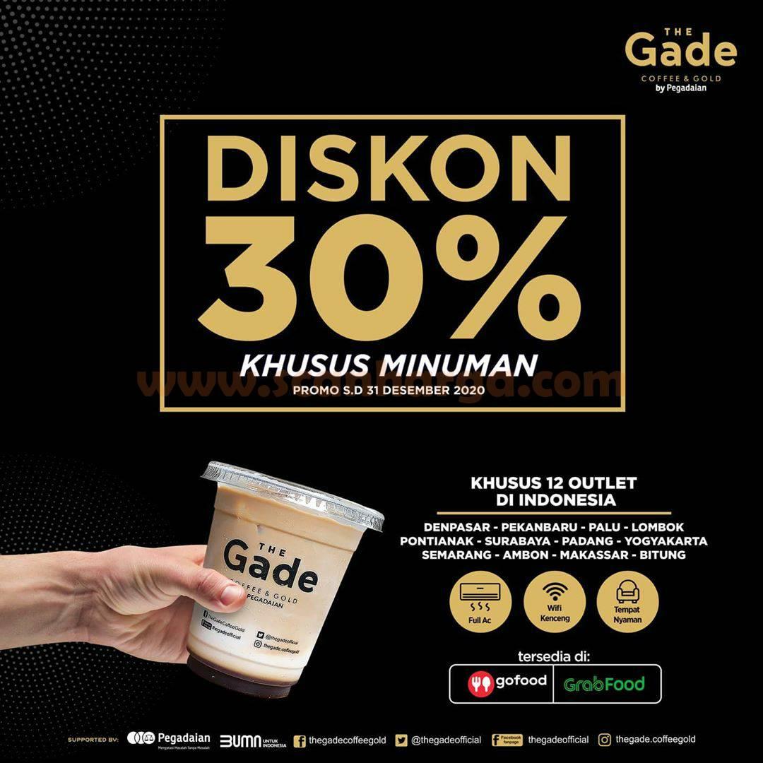 Promo The GADE Coffee & Gold Diskon 30% khusus Minuman*