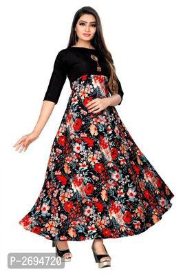 Printed Crepe Floor Length Anarkali Gown