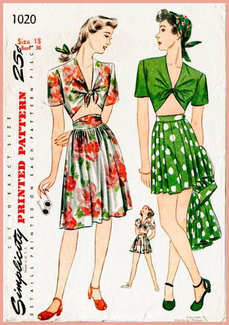 "In the 1940s, crop tops started to become a trend. They often came down to the lower rib-cage - exposing about 2-inches of the mid-drift area. They were often worn tied up in the middle with flared out shoulders: and were usually worn with flared out skirts, shorts, or pants. Perfect for keeping you cool and stylish on those suffocatingly hot summer days. I found a designer that has perfectly recreate this classic look, and added her own little twist to it. Lindsey is a designer based in the United Kingdom. Who owns an online clothing store called ""Style Camp,"" she focuses mostly on '40s style fashion which is what really attracted me to her shop. The way she effortlessly balances '40s elegance with modern-day efficiency and simplicity is just amazing to me. I spoke to her because I wanted to know why she has such a love for '40s style fashion, and how she started her online fashion empire.    Q: How did you start designing?   A: ""Stylecamp started back in 2012 when a friend and I tried to start our own fashion blog based on our thrifted and vintage finds, something we were really passionate about. I'd also studied clothes design at University and knew I wanted to have a go at making my own things. The blog never really took off unfortunately, but I continued making and found success with selling my collection online and at London's Spitalfields Market.""    Source Q: Why did you decide to design vintage style fashion?   A: ""Stylecamp is a combination of my love of travel, my admiration for vintage style and my practical skills in sewing and making. I truly believe in travelling in style, so it was a natural next step to design clothes I wanted to wear on holiday. I love the romance and glamour of vintage beach and Riviera style, often captured in old travel posters . The allure of the holiday resorts and feel-good summer style all goes into inspiring my simple, timeless and elegant collection. Rather than be a reproduction brand, I try to take the timeless essence of the vintage clothing whilst creating something covetable and wearable for the modern woman.""   Source Q: You seem to really like 1940s style fashion. How come?   A: ""I love anything from the 1930s to the1950s and I name a lot of pieces in my collection after the Golden Hollywood starlets who were often pictured in their beachwear for their publicity shoots at this time. I'm in awe of the vivacious Carole Lombard, I think she has to be my favourite starlet - I even have a dress design inspired by her. I have this book 'Sunkissed - Sunwear and the Hollywood Beauty 1930-1950' that I love leafing through, showing the era to have such iconic, feminine silhouettes that were so ahead of their time. I think this period in history represents a time of fashion freedom for women and the silhouettes are a complete celebration of the female form, something that I really want to keep alive and communicate with my designs today.""    You can shop Lindsey's site here. Use the code THATPINUP15 to get a 15% discount on your first order!"