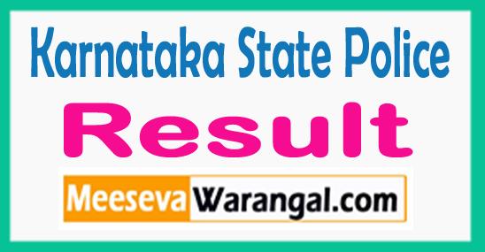 Karnataka Police Constable Results 2017