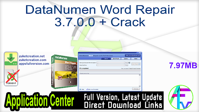 DataNumen Word Repair 3.7.0.0 + Crack