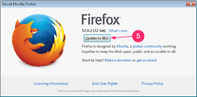 cara memperbarui firefox di laptop