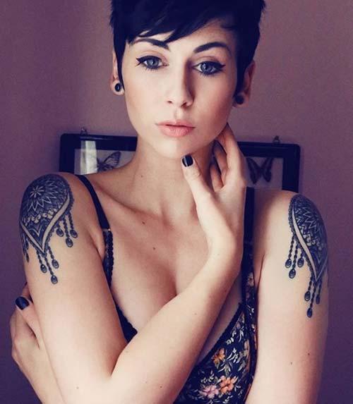 kadın omuz dövmeleri henna woman shoulder tattoos