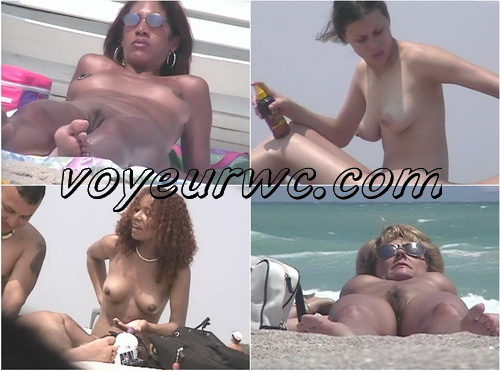 U.S. Nude Beaches 03 (Beach spy cam is working and spying so many nude bodies of people resting on the golden sand)