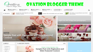 Ovation Responsive Blogger Theme - Responsive Blogger Template