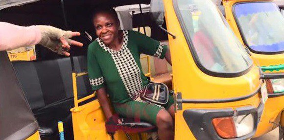 Meet Woman Who Drives A 'Keke' In Lagos After Graduating From University