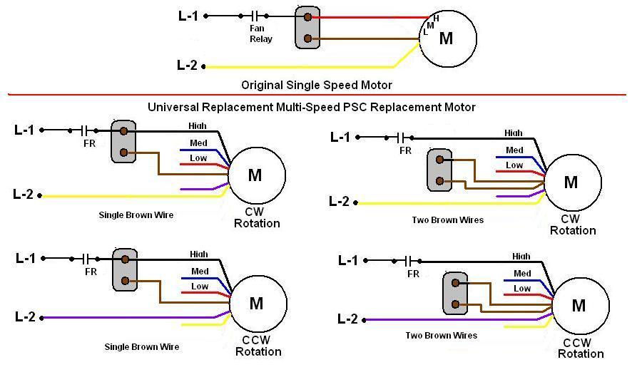 ac blower motor wiring diagram fan