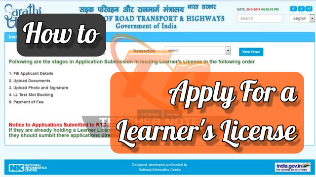 How to apply for learners Licence online?