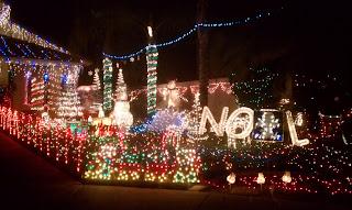 Christmas Card Lane.Holiday Lights