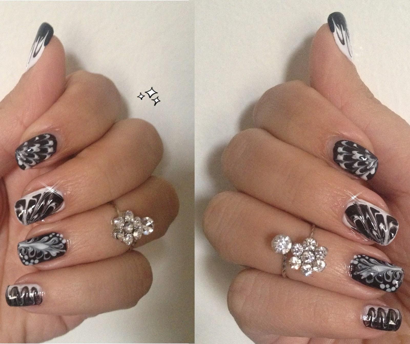 Nail Art Simple Sans Materiel: Pretty Pretty : Nail Art Noir Et Blanc Super Facile Sans