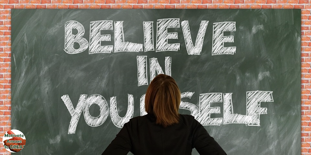 "Featured in the article: ""11 Reasons To Start Believing In Yourself"" . Girl board believe in yourself written."