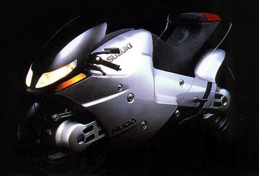 Suzuki Nuda Concept Bike - Bahagian Hadapan