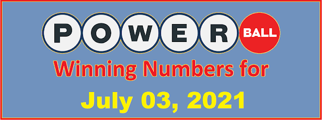 PowerBall Winning Numbers for Saturday, July 03, 2021