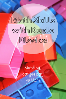 Math Skills with Duplo Blocks